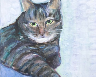 "Custom Pet Portrait 10"" x 10"" in Acrylics on Canvas"