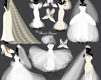 Wedding Clipart Wedding Dress Wedding Clipart Bridal Clipart Wedding Clip Art Bride Clipart Wedding Dress Clipart Wedding Invitation 1060ff