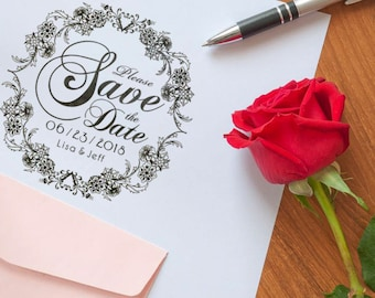 Personalized Save The Date Stamper Custom Stamps Wedding