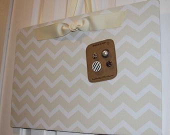 "Magnet Board (12"" x 18"") Fabric Magnetic Board, Memo Board, Photo Display, Organization, Bulletin Board, Wedding photo display, Gift For Her"