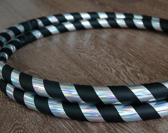 Beginner Hula Hoop / Infinity Collapsible / TRAVEL Hoop / Holographic Rainbow