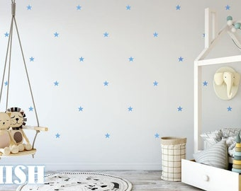 Wall Decal Stars Color blue, Wall Stickers, Star Wall Stickers, Nursery Wall Decal, Home Decor, Kids Room