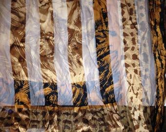 Vintage Frangi Tie Rack Animal Print Scarf