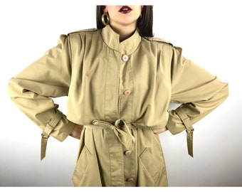Vintage FLEET STREET khaki light weight trench coat