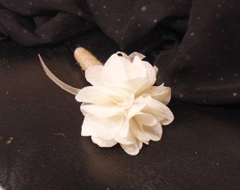 Ivory Silk Flower Wedding Guest Book Pen, Rustic Wedding Pen, Shabby Chic Wedding Pen, Burlap Flower Pen, Wedding Pen, Wedding Sharpie