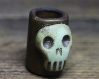 Skull dreadlock bead 10mm