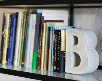 Beton Buchstütze, moderne Beton Buchstützen, moderne Buchstützen, Regal Dekor Büro Buchstützen, grau, Buchstützen, Buch-Halter, Housewarminggeschenk