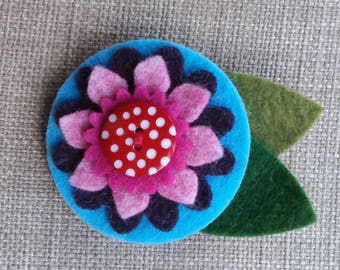 Hand made Felt Floral brooch Mother's Day Gift