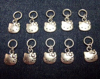 Kitty stitch markers/progress keepers