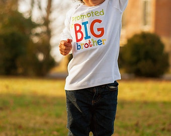 Promoted To Big Brother Shirt-Announcement Shirt-Big Brother Shirts-Big Bro-Soon to Be Big Brother