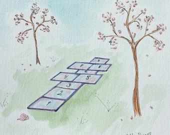 Hopscotch & Cherry Blossoms