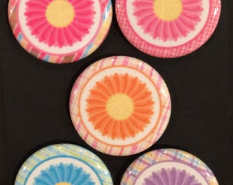 "1.25"" Button Magnets - Flowers"