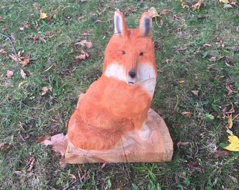 Red Fox carving