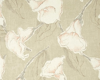 Calla Driftwood floral cotton fabric by the yard Magnolia Home Fashions