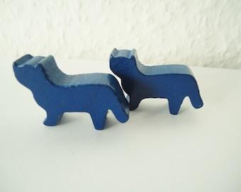 Cat silhouette- vintage wooden figurines