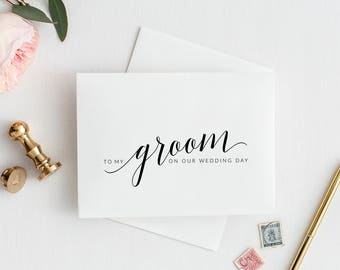 To My Groom On Our Wedding Day Card, Printable To My Groom Card, To My Husband On Our Wedding Day Card, Wedding Day Card for Groom