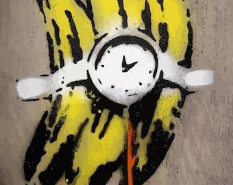 BANKSY Canvas Graffiti Banana Bomb Wall Art Print Gallery Wrapped
