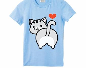 I love Tabby Cat T-Shirt (Kids)
