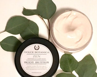 Sage Body Cream, Sage Body Butter, Sage Lotion, Green Herbal Notes, Body Cream for Him, Body Cream for Her