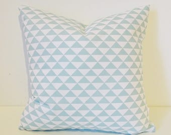 Cushion Cover / Geometric Fabric / Teal | Throw Pillow | Nursery Decor | Pillow Cover | Chevron Fabric | Baby Shower Gift | New Baby Gift