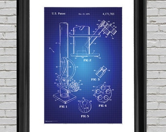 Blueprint art etsy bong pipe blueprint art print 24x36 wall art 420 dorm room poster malvernweather Image collections