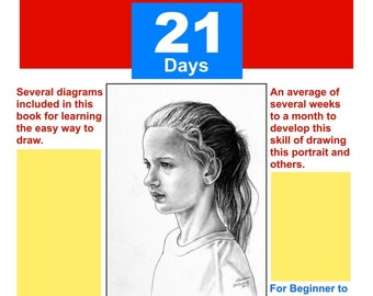 Learn to draw a portrait of a girl in 21 days by Award Winning Artist Christopher Shellhammer