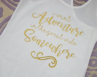 I want adventure in the great wide somewhere with beauty and her beast, belle, Cogsworth, Mrs. Potts, Chip, Lumiere, Magic, Disneyland