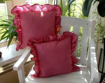 Pillow Case in Vichy red