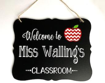 Teacher Sign, Teacher Appreciation Gift, Gift for Teachers, Teacher Name Sign, Personalized Teacher Gift, Teacher Gift, First Day of School