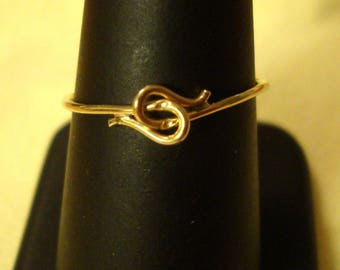 Ring Let's Hold Hands- Love and Friendship adjustable Skinny gold filled eco-friendly  U.S. sizes 4 to 8 READY to Mail  SALE