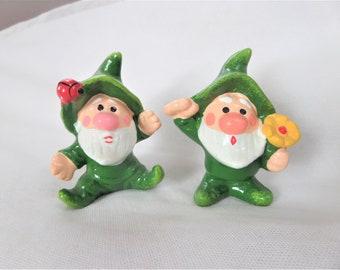 Vintage Napcoware Elf Figurine 2 Elves Japan Knome