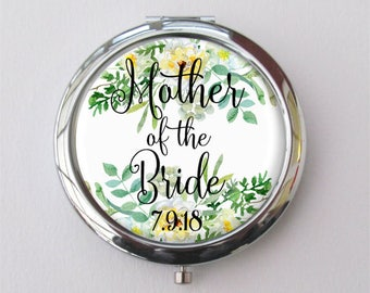 Mother Of The Bride Gift, Personalized Compact Mirror, Gift For Mom