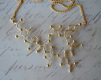 Biolojewelry - Gold Oxytocin Statement Necklace