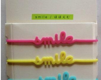 3-band message SMILE - Midori