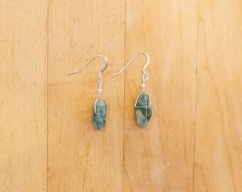 Tourmaline & Freshwater Pearl Earrings