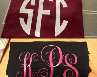 Short Sleeve Monogram Tshirts