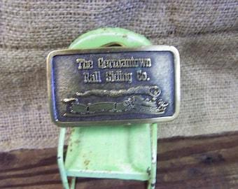 Brass Belt Buckle Germantown Rail Siding Co Belt Buckle