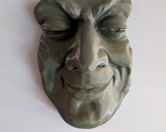 Unique Mask Sculpture of a Man