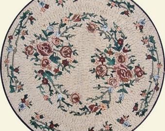 Round Floral Mosaic - Aisley