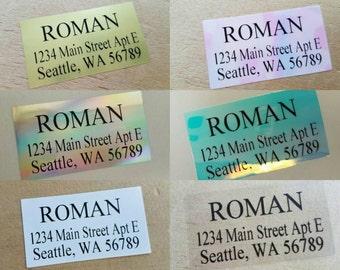 Return Address Labels - Times New Roman Labels - Times New Roman Christmas Card Labels - Waterproof - Fadeproof