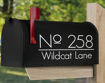 Address decal for mailbox, set of two or one.  Custom mailbox decal.  Personalized mailbox decor.  Custom mailbox sticker.