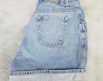 Vintage 1980s 90s Gitano Jeans High Waisted Denim Shorts Mom Jeans Vintage Denim Jean Shorts Size 16