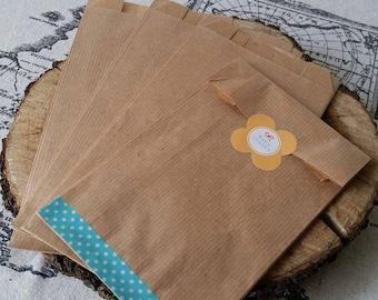 clutch bag gifts x 10 Brown kraft bags