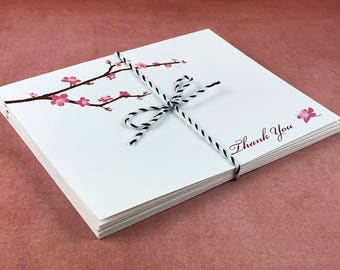 Cherry Blossoms Thank You Cards (Set of 10)