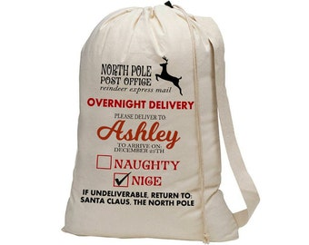 Santa Delivery Sack, Custom, Personalized, Straight from the North Pole for Christmas!