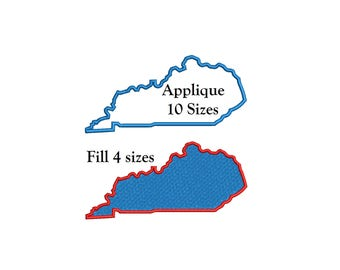 Kentucky State Applique Design - 8 sizes Kentucky State Embroidery - instant download