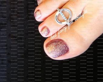 Toe Ring, Ring, Silver Toe Ring, Silver Ring, Open Oval Ring, Open Oval Toe Ring, Stretch Bead Toe Ring
