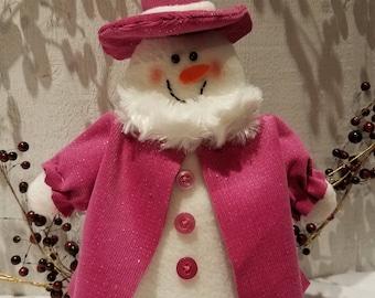 Snow girl, Snow people,Snow man shelf sitter,Winter decor,Holiday decor,Christmas decor