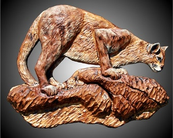 The Cougar Version 1 Wall Sculpture