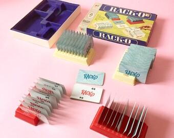 Vintage Racko Card Game from Milton Bradley 1966 COMPLETE